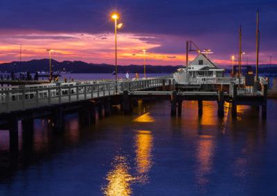 Wharf at dusk